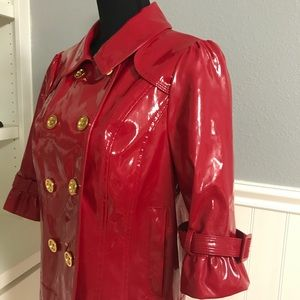 EUC - Juicy Couture - Patent Pea Coat